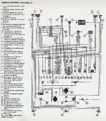pin schema elettrico fiat 500 r on pinterest